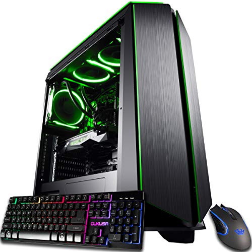CUK Mantis Custom Gaming PC (Liquid Cooled Intel i7-9700KF, 32GB RAM, 1TB NVMe SSD + 2TB HDD, NVIDIA GeForce RTX 2070, 600W Gold PSU, Windows 10) The...