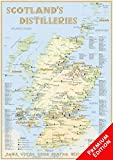 Whisky Distilleries Scotland - Poster 42x60cm - Premium Edition: The Whiskylandscape in Overview - Maßstab 1:1.000.000
