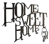 steelprint.de BO´s - Colgador de llaves, diseño de texto 'Home Sweet Home'