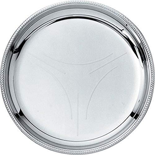 Alessi–800/10–Quecksilber Untertasse aus Satin mit Rand glänzend–Set von 6