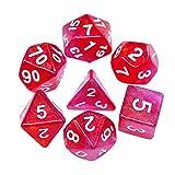 HD DICE DND RPG - Juego de dados poliedricos para Dungeons y Dragones D & D Pathfinder, dados rosados y morados con purpurina que cambia de color