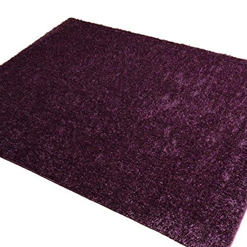 『シャギー ラグ ラグマット カーペット 絨毯 グロシア パープル 190x240cm』の1枚目の画像