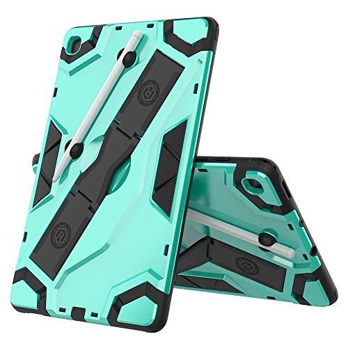 BZN para Samsung Galaxy Tab S6 Lite P610 / P615 Funda Protectora a Prueba de Golpes de la Serie P610 / P615 TPU + PC con Soporte (Negro) (Plata), etc. (Color : Mint Green)