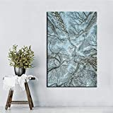 N / A Snow and Tree Wall Art Painting Print Poster Living Room Landscape Picture Decoration Painting Frameless