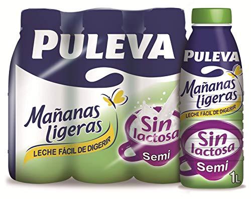 Puleva Mañanas Ligeras Leche sin Lactosa Semidesnatada - 6 x 1 L - Total: 6 L