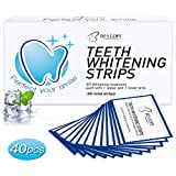 Bestope 40pcs White Stripes Zahnaufhellungs Bleaching Strips Zahnauhellung-Streifen Zahnbleaching Set