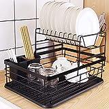 HomeMagic Prévention de la Rouille Égoutoire à Vaisselles avec Égouttoir Amovible, Porte-Couverts, 2 Niveaux Porte-Vaisselle, Égouttoir Vaisselle Idéale dans la Cuisine (3)
