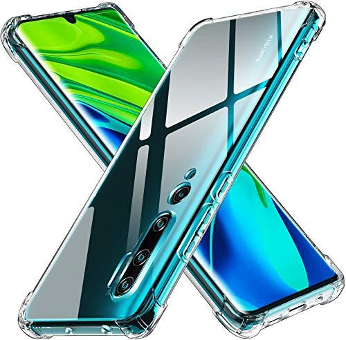 ivoler Klar Silikon Hülle für Xiaomi Mi Note 10 / Xiaomi Mi Note 10 Pro mit Stoßfest Schutzecken, Dünne Weiche Transparent Schutzhülle Flexible TPU Durchsichtige Handyhülle Kratzfest Case Cover