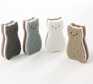 Kitchen Sponge pack of 4 Cat type Good Foaming 3 layer imported
