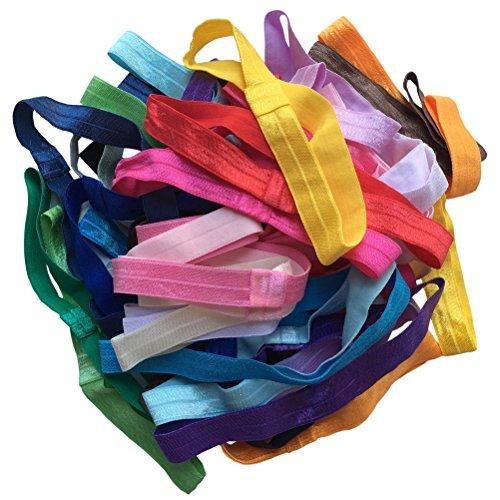 Arlai Pack of 40 Interchangeable Elastic Headbands Baby Girl Headbands 20 Colors