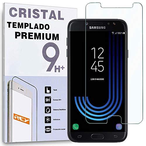 REY Protector de Pantalla para Samsung Galaxy J7 2017 / J7 Pro, Cristal Vidrio Templado Premium