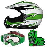 Leopard LEO-X17 Casco de Motocross para Niños y...