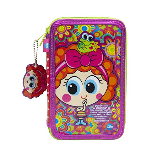 Chamoy Distroller Amiguis-hamoy yEstuche Triple, Multicolor (Cife Spain 41703)