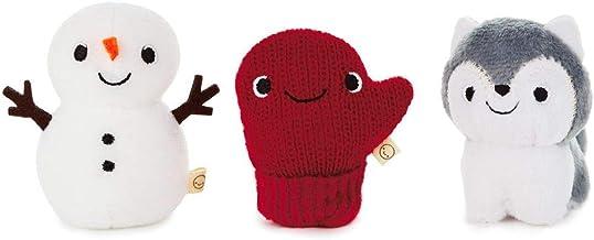 Hallmark Happy Go Luckys Winter Fun Mini Stuffed Animals, Set of 3