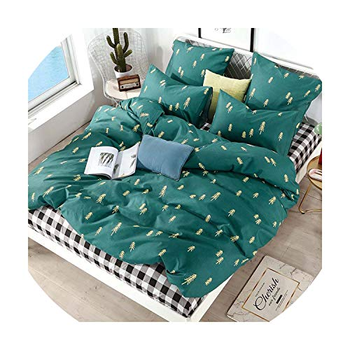 sensitives Bedding Set Pure Cotton Pure Color A/B Double Sided Pattern Cartoon Simplicity Bed Sheet Quilt Cover Pillowcase 4 7pcs,T-1008,EBPO