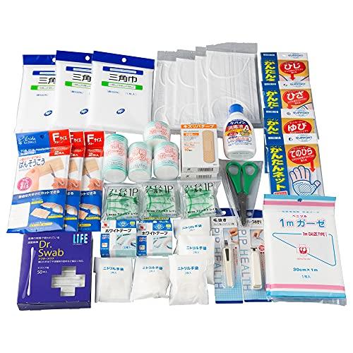 応急手当用品40点セット 救急箱の中身 救急セット 事業者向け 労働安全衛生規則準拠