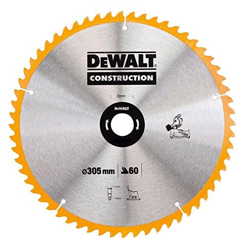 DeWalt bouwcirkelzaagblad voor stationaire zagen/cirkelzaagblad (305/30 mm 60WZ, universeel gebruik en dwarsdoorsneden) DT1960