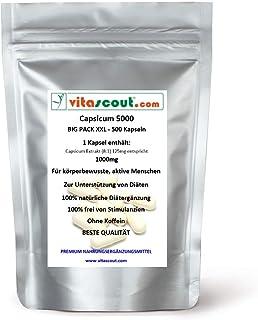 CAPSICUM 5000 Extrakt 500 Kapseln - CHILI FATBURNER HOCHDOSIERT - Bauch Beine Po Thermogenese