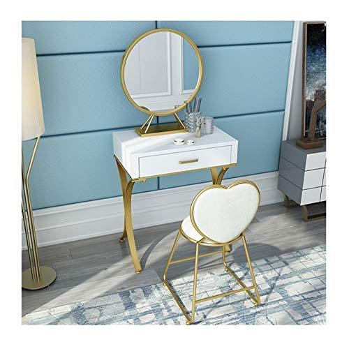 QWERTY Conjunto de Mesa de tocador para Dormitorio con estantes de cajones para Mesa de Maquillaje de Dormitorio Tocador de Muebles Modernos (Color : Dressing Table Set, Size : 100cm Long)