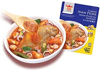 Tean's Gourmet Malaysian Traditional Cuisine Tumisan Asam Pedas Assam Paste for seafood and fish 田师傅亚三鱼辣酱 7oz - total of 12 units