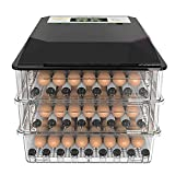 Incubatrice Automatica di 96 Uova Multifunzionale Incubatrici di Uova Portatile con Regolabile in Temperatura per Gallina Pollo Anatra Quaglia Uova