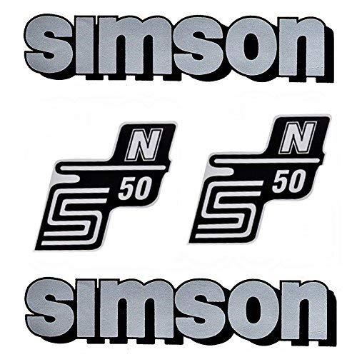 Set stickers plakfolie voor Simson S50 N zilver voor tank en zijdeksel