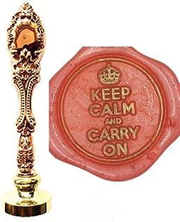 MDLG Vintage Keep Calm and Carry On Crown personalizado imagen boda invitaci/ón cera sello sello sello mango