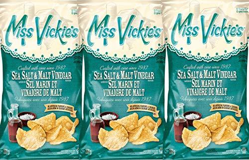 Miss Vickies Sea Salt & Malt Vinegar 220g (3-Pack)