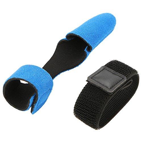 alomejor Angeln Ärmel, erweiterbar Neopren Cover Handschuh Displayschutzfolie Gap + Rutenband Set, blau