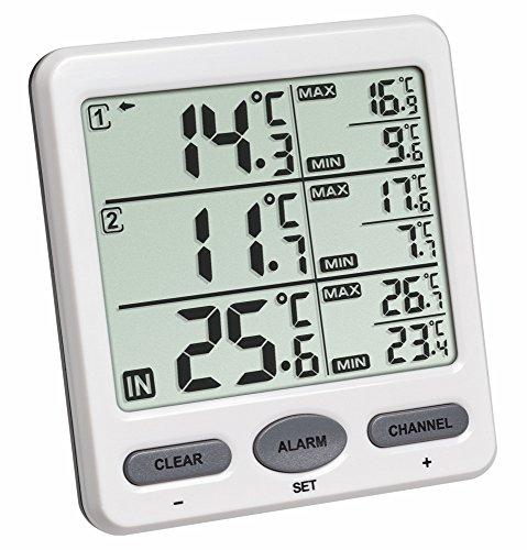 Funk-Thermometer Trio TFA 30.3062 Funkthermometer Raumtemperatur Überwachung (Weiss 30.3062.02)
