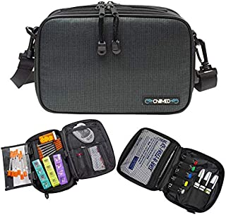 ChillMED Elite Diabetic Organizer Supply Kit | Insulin and Medication Travel Cooler Bag - Slate