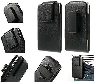 DFV mobile - Magnetic Leather Holster Case Belt Clip Rotary 360º for DOOGEE DG550 / DOOGEE Dagger - Black