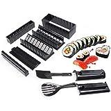 LMIM Kit de fabricación de Sushi DIY de 10 Piezas Roll Sushi Maker Rice Roll Mold Kitchen Sushi Tools, Multifuncional 4 Formas Japanese Sushi Cooking Tools para Principiantes