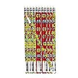cama24com Eule bunt und lustig Bleistift mit Radiergummi 12 Stück Mitgebsel Gastgeschenk Palandi®