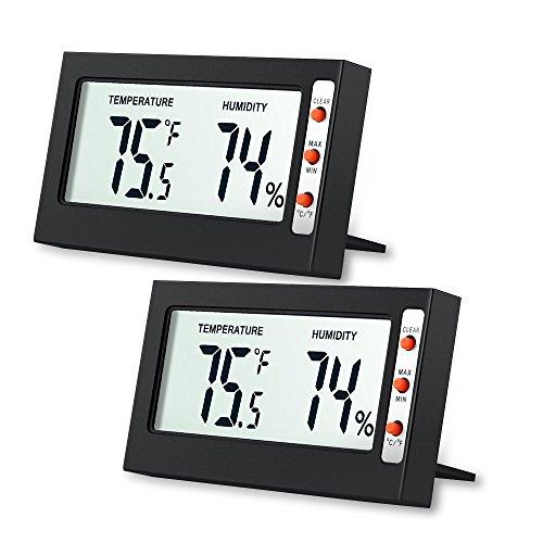 Criacr AMIR Thermometer Hygrometer, Mini Thermometer Innen mit Hohen Genauigkeit, Raumthermometer, Temperatur und Luftfeuchtigkeitsmesser für Raumklimakontrolle, Wohnzimmer, Büro, Zuhause