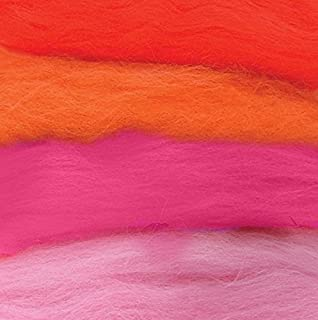 Tonos de lana Elfos fieltro de lana de rango rojo con 4 colores