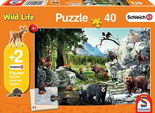 Schmidt Schleich Puzzle Gli Animali della Foresta, 40 Pezzi, 56239