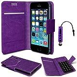 N4U Online® - Nokia Asha 210 Purple PU Leather Suction Pad