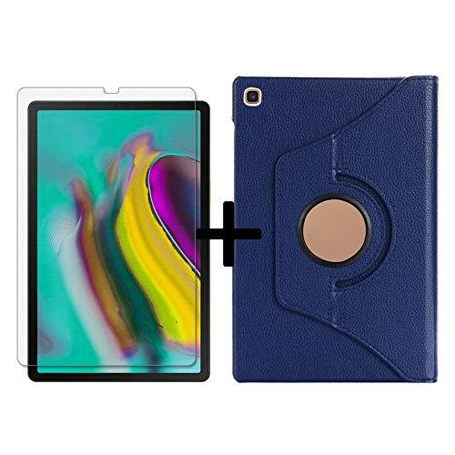 Conjunto de proteção 2 em 1 para tablet Galaxy Tab S5e 10,5 polegadas SM-T720 SM-T725 360 graus + protetor de tela azul