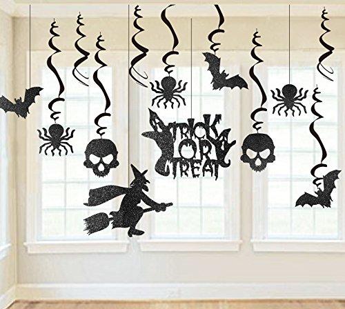 SUNBEAUTY Halloween Hänger-Deko Spiralen 13er Set Dekoration