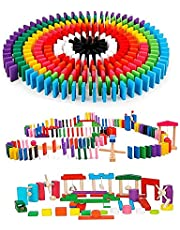 積み木 ドミノ倒し 知育玩具 360個 ギミック 仕掛け 24種セット 日本語説明書 収納袋付き 並べる用道具 木製 カラフル Bajoy 木のおもちゃ 誕生日 クリスマス 入園祝い プレゼント