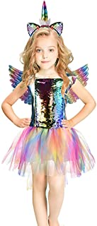Rainbow Unicorn Costume Halloween Girls Dress Up Costumes for Party Special Occasion 8-10 Years Rainbow Braid