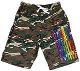 Men's Rainbow Gay Flag Camo Fleece Jogger Sweatpant Gym Shorts 2X-Large