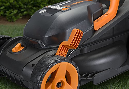"""Worx WG779 2x20V (4.0AH) Cordless 14"""" Lawn Mower with Mulching Capabilities and Intellicut, Dual Charger, 2 Batteries"""