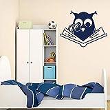 Divertido pájaro de dibujos animados etiqueta de la pared decoración para la sala de estar dormitorio arte de la pared impermeable autoadhesivo flor etiqueta de la pared A4 43x56 cm