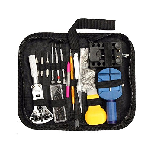 Goedkoopste Horloge Reparatie Kit, 144 Stks Horloge Tool Kit Lente Bar Tool Horloge Band Link Pin Remover Tool Set met Rits Case
