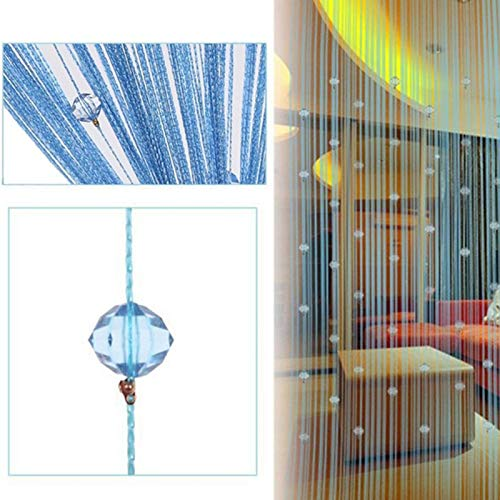 Crystal Beaded Curtain Tassel Curtain - Partition Door Curtain Beaded String Curtain Door Screen Panel Home Decor Divider Crystal Tassel Screen 100x200cm