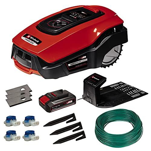 Einhell Mähroboter FREELEXO 500 BT Power X-Change (Li-Ion, Multizonen-Modus, bis 35{b23d0fa5da4ef224cb6a75c5f24cbefae1f6d348ae94bc77939ac4aaee33ea85} Steigung, Appsteuerung d. Bluetooth, Stoß-/Kipp-/Hebe-/Regensensor, inkl. Installations Kit)