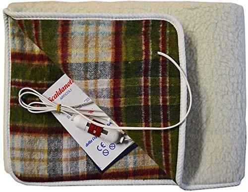 Scaldanotte MAXI copre tutto il materasso LANCALOR Made in Italy 100% Lana Vergine Merinos Garanzia 5 Anni (1 PIAZZA E MEZZA (190cm x 120cm))