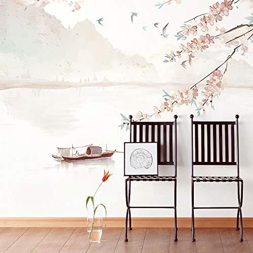 Papel Pintado Pared Dormitorio Fotomurales Decorativos Pared Tapiz De Pared 3D Papel Pintado De Paisaje Chino Pintado A Mano Pared Papel Pintado Cuadros Habitacion Bebe Posters Mural